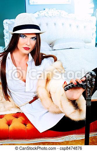 chic woman - csp8474876