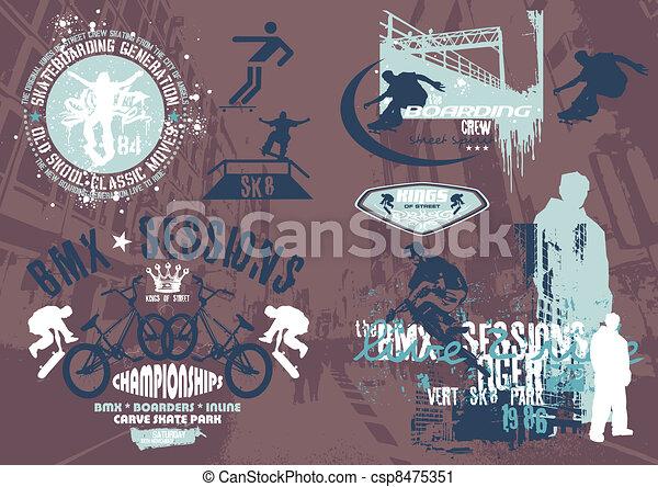 street skateboard - csp8475351
