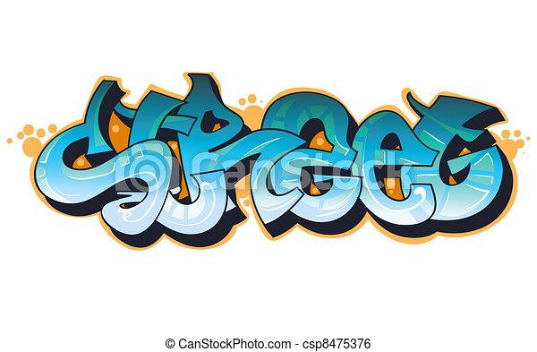 Graffiti urban art - csp8475376