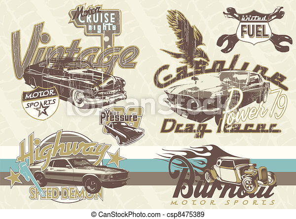 old sport cars - csp8475389