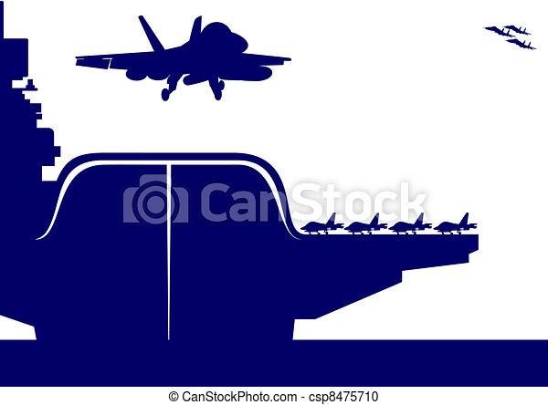 Aircraft and an aircraft carrier - csp8475710