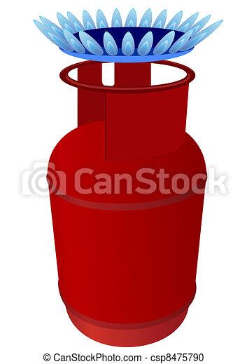 Gas cylinder and burner - csp8475790