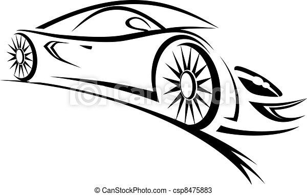auto rennen - csp8475883