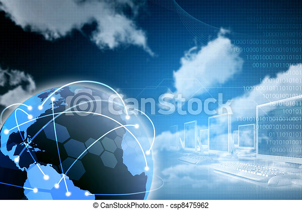 Worldwide Internet and information connectivity illustration. Designed for background image. There a still space in the image to put down your wording or blend in your special design elements. - csp8475962