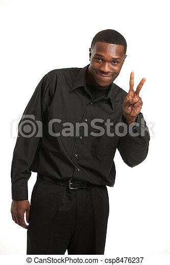 Young Black Business Man Portrait - csp8476237