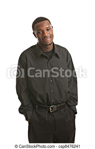 Young Black Business Man Portrait - csp8476241