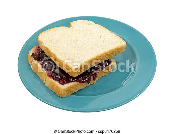 Peanut butter and jelly sandwich  - csp8476259