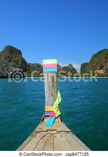 Long tail boat in Thailand - csp8477125