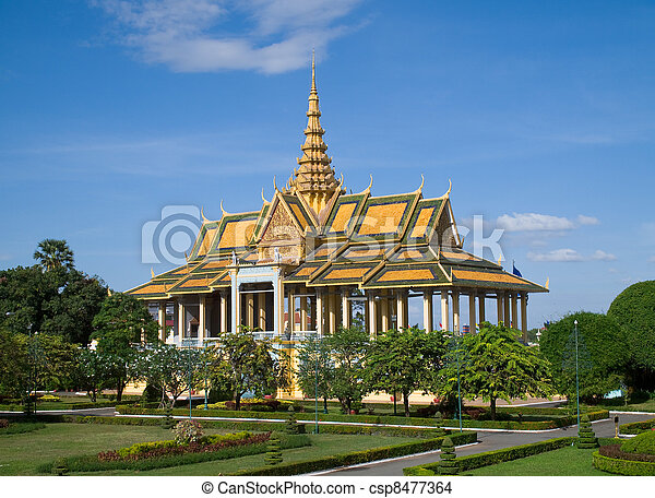 The Royal Palace in Phnom Penh - csp8477364