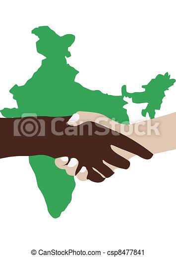 Indian continent friendship - csp8477841