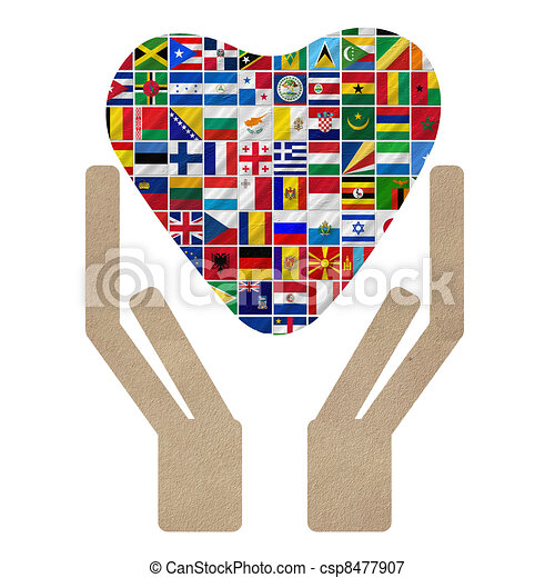 world flags with Cooperation - csp8477907