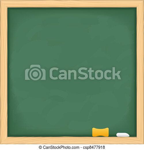 Blank green blackboard - csp8477918