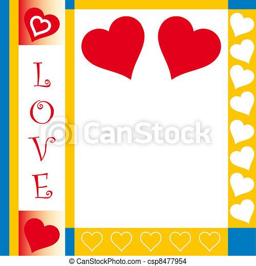 Valentines Day card - csp8477954