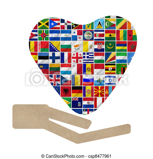 world flags with Cooperation - csp8477961