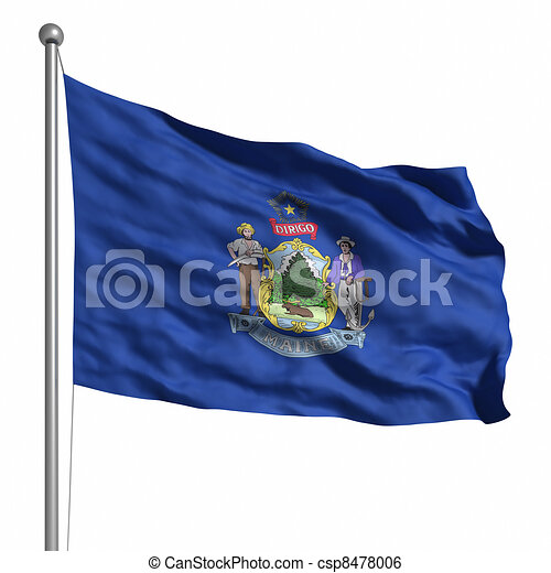 Flag of Maine - csp8478006