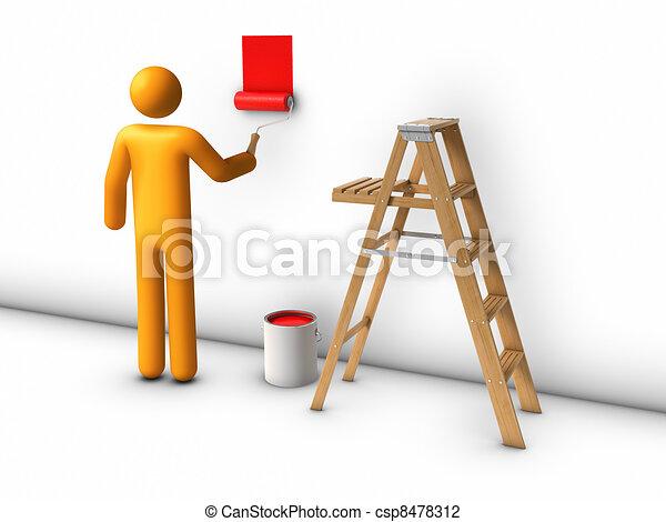 Painter - csp8478312