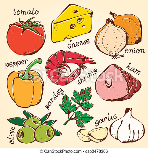 Pizza Ingredients Clipart