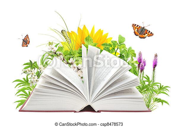 libro, natura - csp8478573