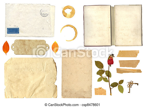 Collection elements for scrapbooking - csp8478601