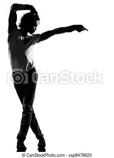 hip hop funk dancer dancing man - csp8478623