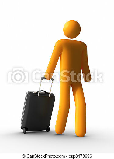 Walking with Luggage - csp8478636