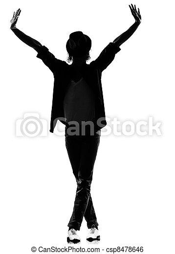 hip hop funk dancer dancing man - csp8478646