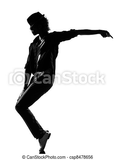 hip hop funk dancer dancing man - csp8478656