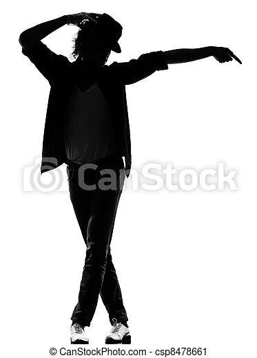 hip hop funk dancer dancing man - csp8478661