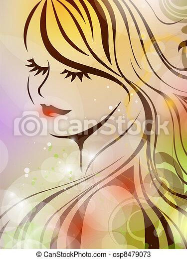 Spring girl  - csp8479073