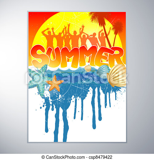 Summer Party Design  - csp8479422