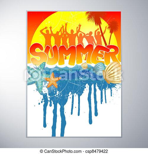 Summer Party Design - csp8479422
