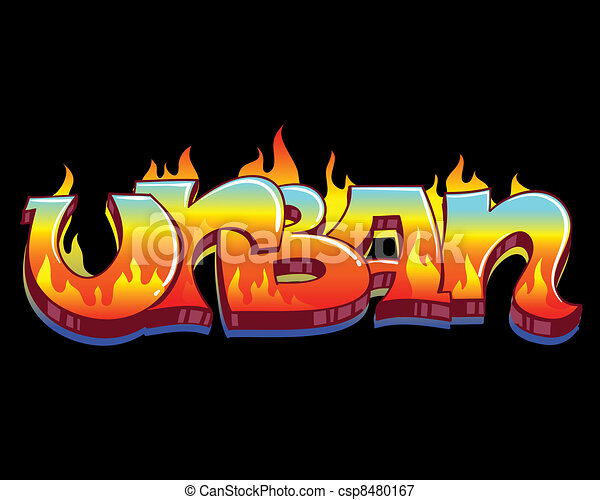 Graffiti Urban Art Vector Illustration - csp8480167