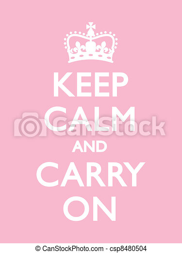 Keep Calm and Carry On - csp8480504
