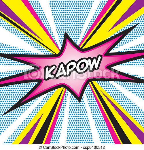 Vector Illustration Of Pop Art Kapow Pop Art Inspired