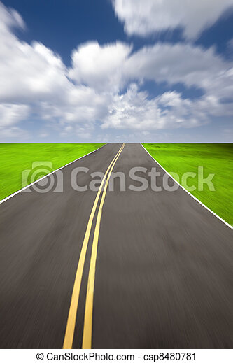 speed road with cloudy background - csp8480781