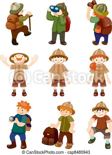 set of Adventurer people - csp8480943