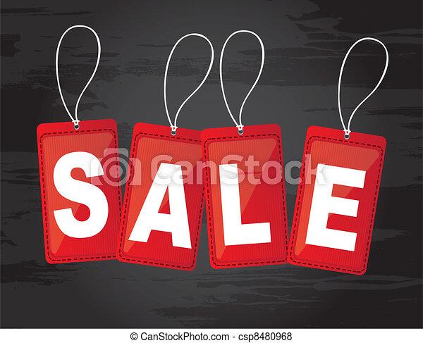 sale tags - csp8480968