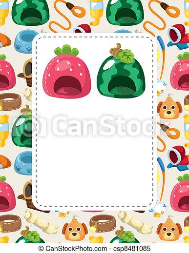 cartoon pet tool card - csp8481085