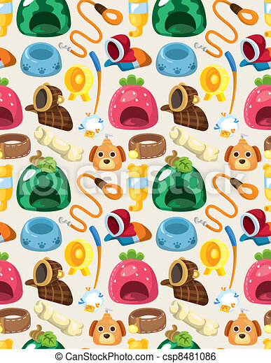 pet tool seamless pattern - csp8481086