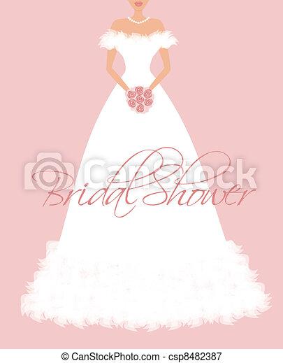 Bridal Shower Invitation - csp8482387