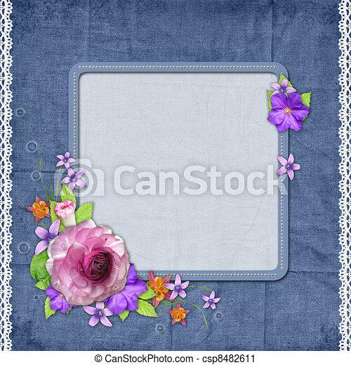 Stock De Ilustraciones   Plano De Fondo  Marco  Foto  O  Texto  Flores