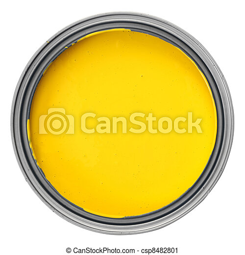 can with yellow paint - csp8482801