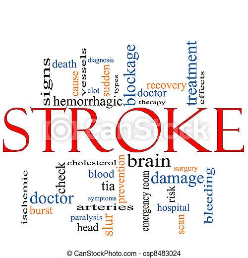 Stroke word cloud concept - csp8483024