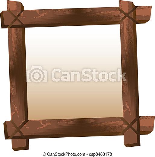 Vector de de madera marco blanco de madera marco - Marcos rusticos para fotos ...