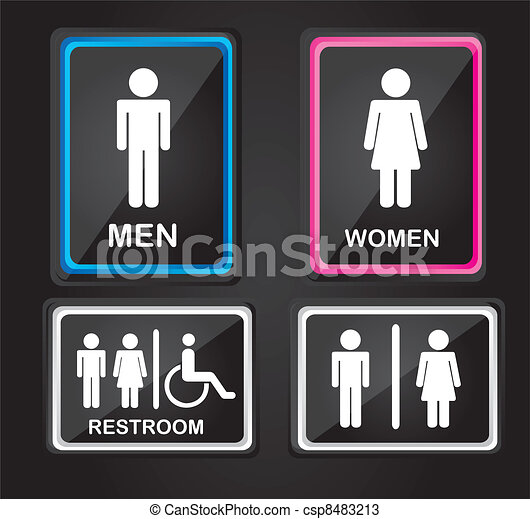men and women sign - csp8483213