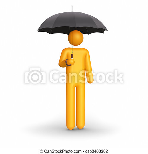 The insurance agent. - csp8483302