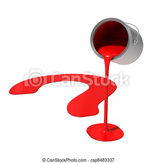 Paint Can - Question Mark - csp8483337