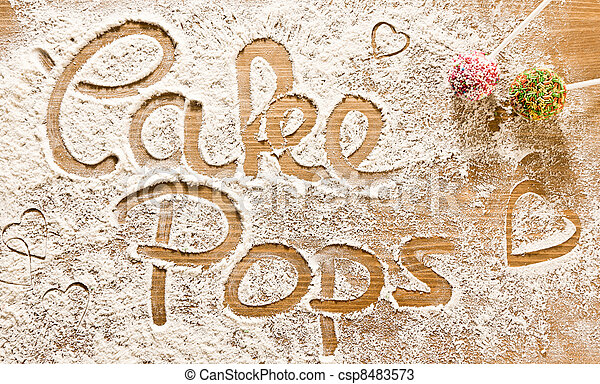 Cake Art Words : Stock Photos of Flour Artwork With Food And Handprints ...