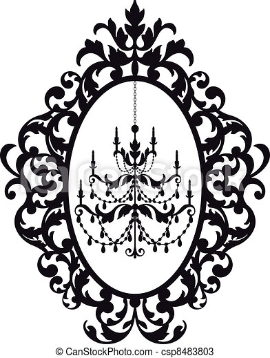 picture frame with chandelier - csp8483803
