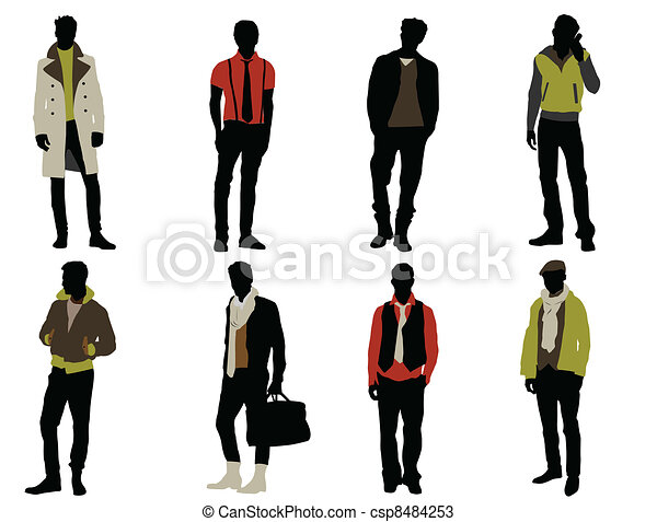 Male fashion model Clipart and Stock Illustrations. 9,743 Male ...